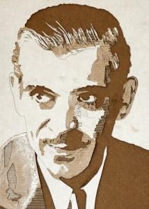 Cardboard Relief Portrait – Boris Karloff