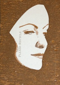Cardboard Relief Portrait – Greta Garbo
