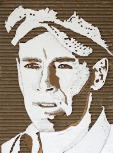 Cardboard Relief Portrait – Henry Fonda