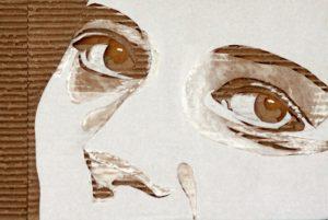 Cardboard Relief Portrait – Isabella Rossellini