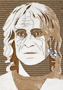 Cardboard Relief Portrait – John Burton