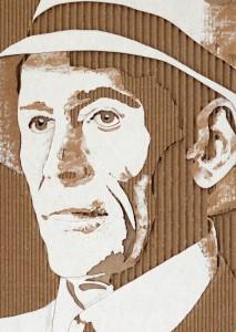 Cardboard Relief Portrait – Peter O'Toole