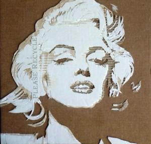 Cardboard Relief Portrait – Marilyn Monroe