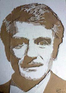 Cardboard Relief Portrait – Peter Mendolson