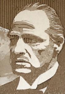 Cardboard Relief Portrait – Marlon Brando