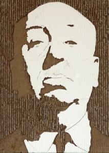 Cardboard Relief Portrait – Alfred Hitchcock