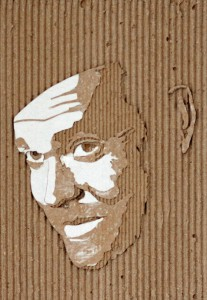 Cardboard Relief Portrait – Orson Welles