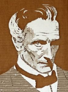 Cardboard Relief Portrait – Peter Cushing