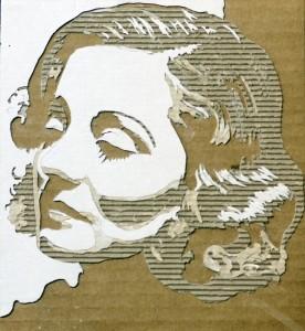 Cardboard Relief Portrait – Tallulah Bankhead