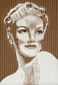 Cardboard Relief Portrait – Unknown Movie Star